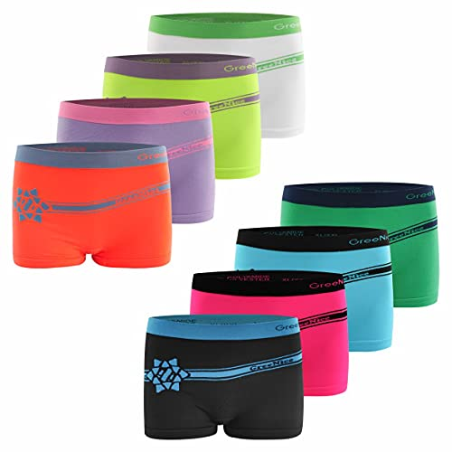 6er Pack Damen Pantys | Frauen Microfaser Hipster Hotpants Unterhose Slip (XL-XXL, Mehrfarbig)