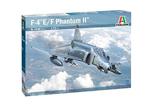 Italeri 1:72 F-4E/F Phantom II-Réplica Fiel al Original, maquetas, Manualidades, Hobby, Pegar, Kit de construcción de plástico, Montaje (HC-1448)
