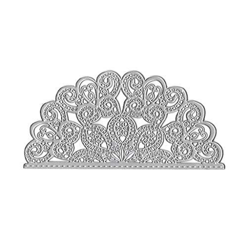 Koehope Stansvormen voor het maken van kaarten, halve cirkel bloem metaal snijden dit sjabloon DIY scrapbooking album stempel papier kaartje reliëf craft decoratie