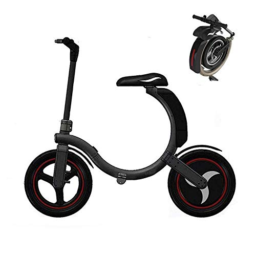 Smart Portable Folding Scooter with Led Speed up to 30Km/h, Electric Bikes Collapsible Frame Travel Pedal Car, 350W Engine Electric Bicycle Black Best Gift for Adults