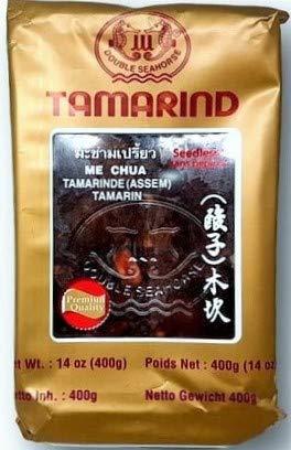 Parwaz - Pasta di tamarindo con semi - Ideale per preparare il Pad Thai - Prodotto della Thailandia - 400 g