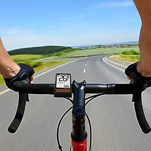Qomolo Cuentakilómetros para Bicicleta, Energía Solar Velocímetro Inalámbrico para Bicicleta,Muti-Funcion Impermeable Ciclocomputador Ciclismo,Ordenador para Bicicleta,Odómetro de Bicicleta