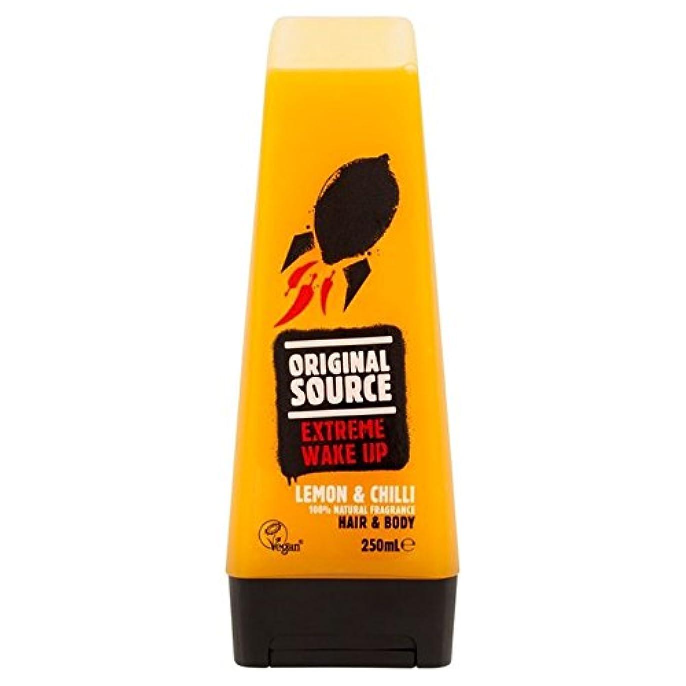 登山家ヒュームイデオロギーOriginal Source Mens Lemon & Chilli Hair & Body Shower Gel 250ml (Pack of 6) - 元のソースは、レモン&チリヘア&ボディシャワージェル250ミリリットルメンズ x6 [並行輸入品]