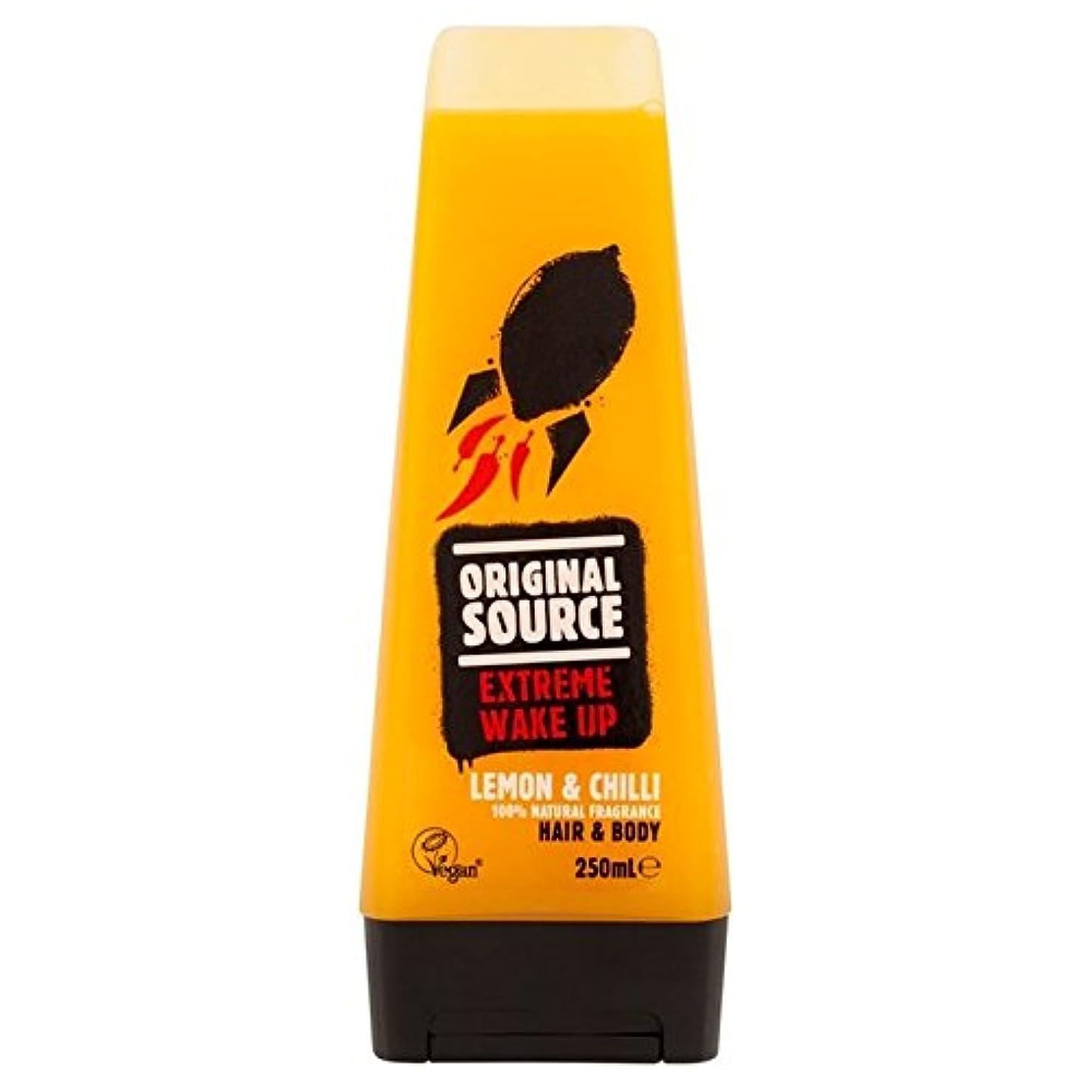運命的なサーバ軽蔑するOriginal Source Mens Lemon & Chilli Hair & Body Shower Gel 250ml - 元のソースは、レモン&チリヘア&ボディシャワージェル250ミリリットルメンズ [並行輸入品]