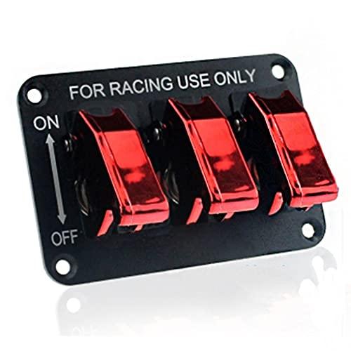 TYLZDZ Interruptor de Encendido Panel Modificado RV 3 Juegos De Interruptores De Palanca Basculantes De Metal Interruptor Combinación Aluminio 12V20A con Encendedor De Alambre