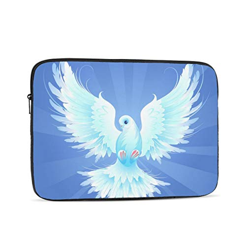 White Dove Laptop Sleeve Bag Compatible with 10-17 Inch Fashion Computer Bag Laptop Case