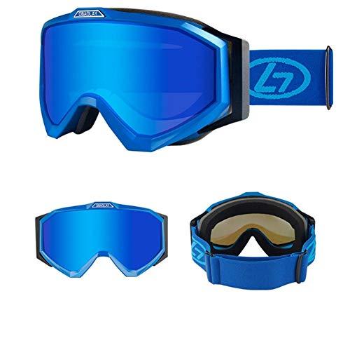 HRTCCN skibril, UV400 bescherming, snowboarden bril van dubbele lens met anti-mist voor mannen, vrouwen