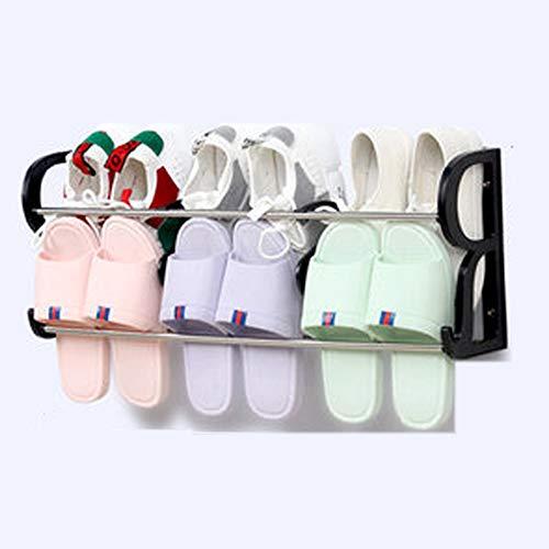 REGEN Meuble à Chaussures suspendu en métal, Salle de bain, Porte boîte de Rangement suspendue 6 paires de Chaussures 2 Grille Blanc