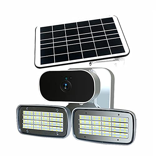 EBUYFIRE Cámara solar, cámara de vigilancia HD y 4G Wifi al aire libre jardín lámpara de pared intercomunicador Garaje luz Monitores IP cámaras de seguridad