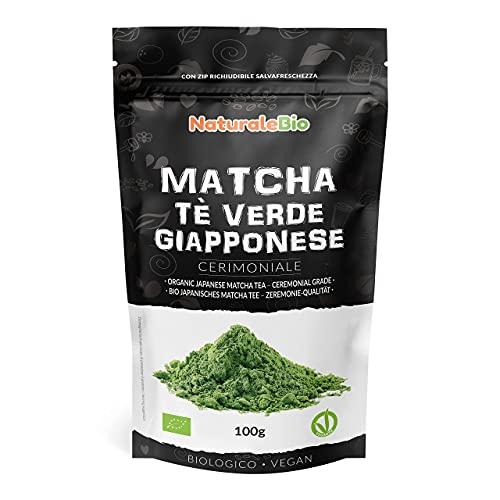 Matcha-Tee-Pulver-Bio - Ceremonial Grade - Original Green Tea aus Japan. Grüntee-Pulver Matcha Zeremonie-Qualität, hergestellt in Uji, Kyoto. Ideal zum Trinken, Kochen und in der Latte.