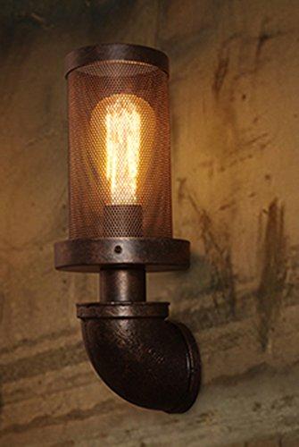 ZWL Rétro lampe murale Lampe murale en fer Loft Restaurant Bar Café Éléments Escaliers Personnalité Décoration créative Single Head E27, 10 * 35CM mode (Couleur : #1)