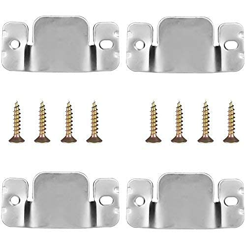 Sofa Interlocking Universal Furniture Sectional Sofa Linker Couch Connector Bracket with Screws 4 Pieces Sofa Fastener Software (Stainless Steel)