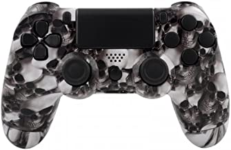 PS4 Controllerbehuizing voor Dualshock 4 Controller incl. Mod Kit - Hades White Skull
