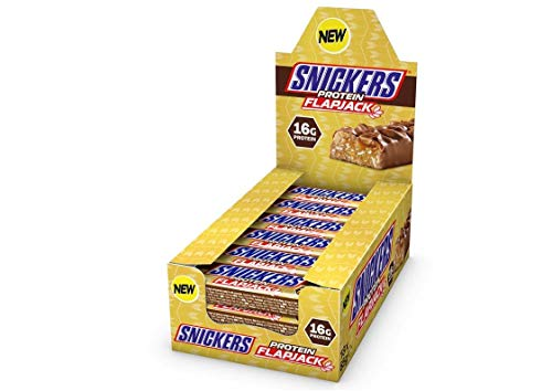 Snickers Protein Flapjack (18 x 65g) - High Protein Oat Bar with Caramel, Peanuts and Milk Chocolate - Contains 16g Protein