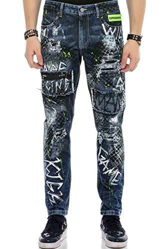 Cipo & Baxx Herren Painted Jeans Hose (W33/L32)