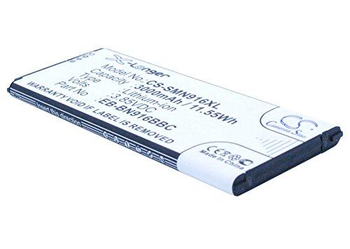 CS-SMN916XL Batería 3000mAh Compatible con [Samsung] Galaxy Note 4 (China Mobile), SM-N9100,...
