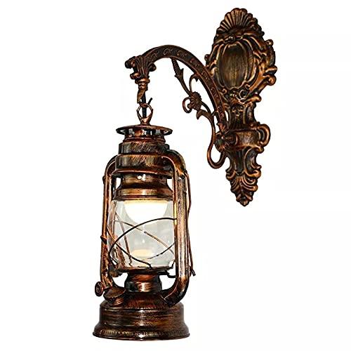 Andylies LáMpara de Pared LED Vintage Linterna de Granero Luz de Pared de Aceite de CarbóN Retro Estilo Antiguo Europeo