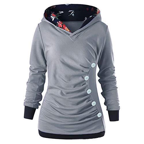 Zytyeu Hoodie Damen Sweatshirt Damen Elegante Falten Mode-Design Trend Damen...