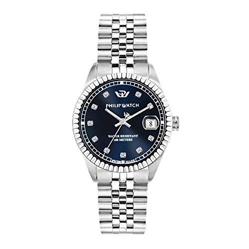 PHILIP WATCH Damen Analog Quarz Uhr mit Edelstahl Armband R8253597536