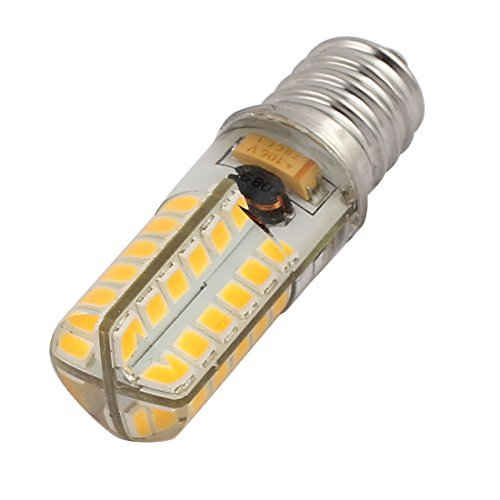 DealMux DC12V-24V E14 3W blanco cálido 48SMD ahorro de energía de silicona maíz Buld luz