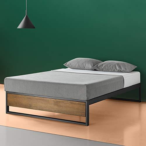 Zinus Suzanne 14-Zoll-Plattformbett ohne Kopfteil / Matratzenbasis/ Keine Boxspring erforderlich/Bed-in-a-Box/ Schnelle, einfache Montage/ 180 x 200 cm