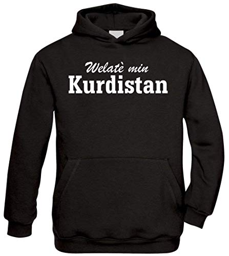 Ya Hero Ya Mero Welatè min Kurdistan Hoodie Kapuzenpullover Pullover Azadi (M)