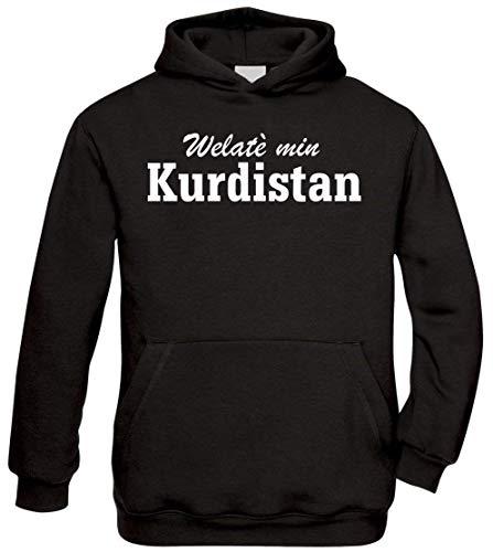 Ya Hero Ya Mero Welatè min Kurdistan Hoodie Kapuzenpullover Pullover Azadi (XXL)