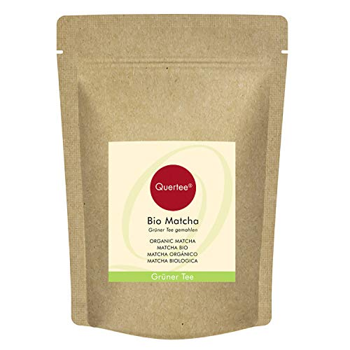 Matcha Ecológico   Té verde en polvo Orgánico   Matcha para beber, o para batidos, batidos, muesli y para cocinar y hornear Calidad orgánica 100 g de Quertee