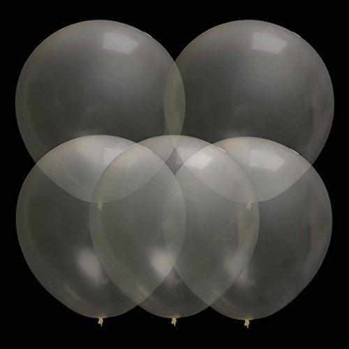 GuassLee 36 Zoll Wiederverwendbar Riese Latex Ballon Für Hochzeitsfest Festival Karneval Event Dekorationen Clear
