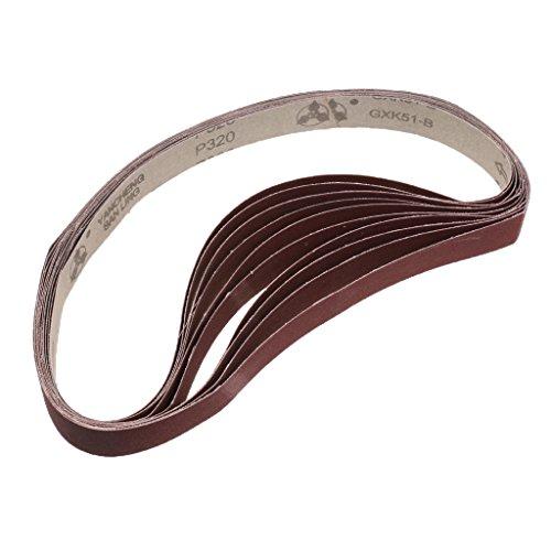 10 pack Schleifbänder Schleifband Bandschleifer, 25x762mm - 320 Grit