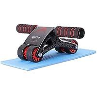 Great San 腹筋ローラー 膝保護マット付き 耐荷重150kg 四輪超静音腹筋 トレーニング器具 筋トレグッズ エクササイズローラー 体幹 ストレッチ ダイエット器具 付取扱説明書
