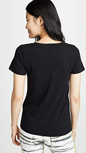 Z SUPPLY Women's Perfect V Tee, Black, Small