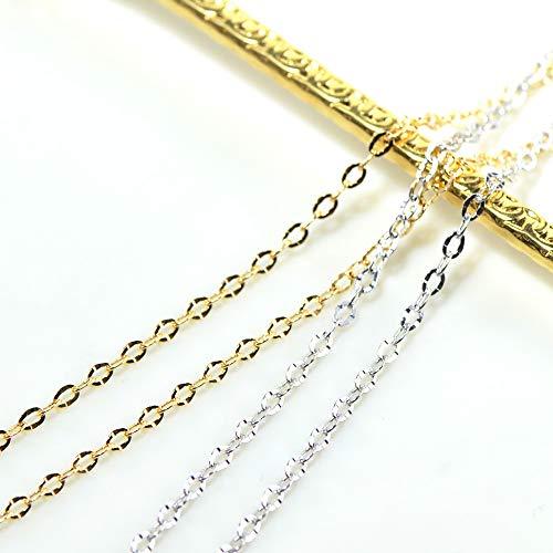 ポラリスカット チェーン ネックレス フルアジャスター45cm K18ホワイトゴールド YK-BD018-1905-K18WGCI