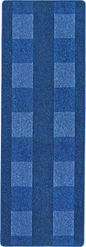 andiamo, Teppich Flachgewebe Dalia strapazierfähig, schadstoffgeprüft 67 x 200 cm blau
