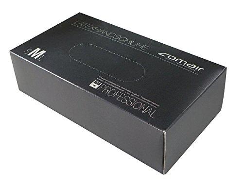 Comair 3012327 Latex Handschuhe, mittel, 100 stück Box gepudert