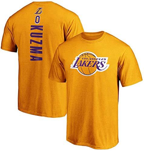 XH-CHEN Baloncesto de Ropa para Caballeros, de la NBA Los Angeles Lakers # 0 Kyle Kuzma Formación Retro Camiseta de Jersey, cómodo/Respirable Fresco Ocasional/algodón de Las Tapas,B,XL:175~180cm