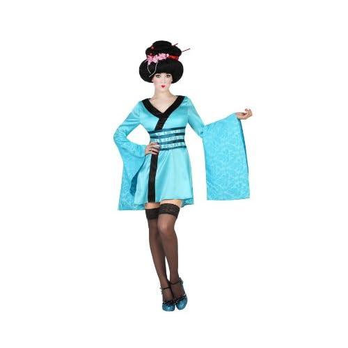 Atosa-19313 Disfraz Geisha, color celeste, M-L (19313): Amazon.es ...
