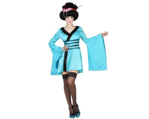 Atosa 19314 - Geisha kostuum, maat XL, lichtblauw