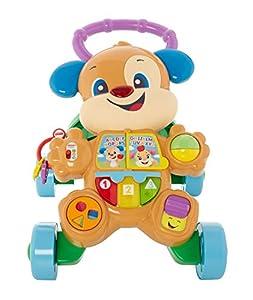 Fisher-Price Ríe y aprende Andador Perrito Primeros Pasos, juguete con actividades, luces y sonidos, regalo para bebés +6 meses (Mattel HBW52), Embalaje sostenible