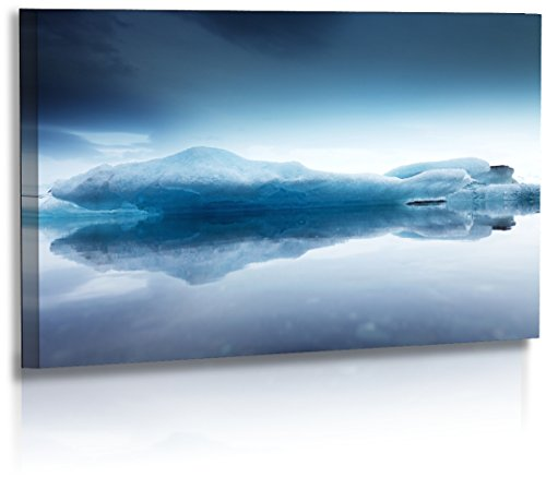 Fotoatelier Dirk Haas Premium Acrylglasbild XXL - Natur - Landschaft - Island - Bild - Gletschereis - Schollen - Wasser - Strand - Acrylglas : 50 cm x 30 cm