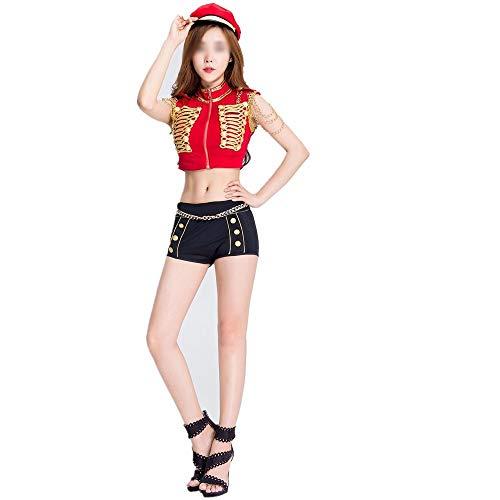 Elegantes trajes de Halloween, disfraces de Halloween Trajes de teatro magníficos y festivas for Halloween hermosa chica en ropa de policía uniforme de la azafata Disfraces de Halloween Cómodos y Llen