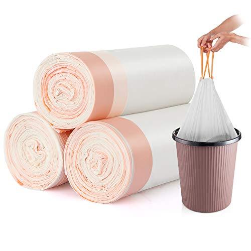 Bolsa de basura bio con cordón 10L 45x46cm 3 rollos con 25 bolsas cada uno Cargas pesadas compostables Bolsas de basura antigoteo a prueba de roturas