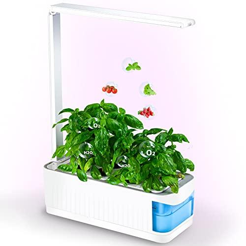 Smart Indoor Herb Garden Kit, Mini Hydroponic Garden Growing System, Desktop Grow Lights for Indoor...