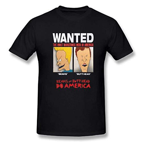 VJSDIUD Beavis And Butthead TV Show Mens Cusual Tee t Shirt