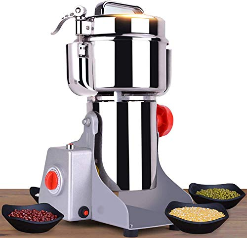 CGOLDENWALL Safety Electric Grain Grinder Mill High-speed Spice Herb Mill 3600W Commercial Powder Machine Dry Cereals Grinder CE (2500g Swing Type) (Renewed)