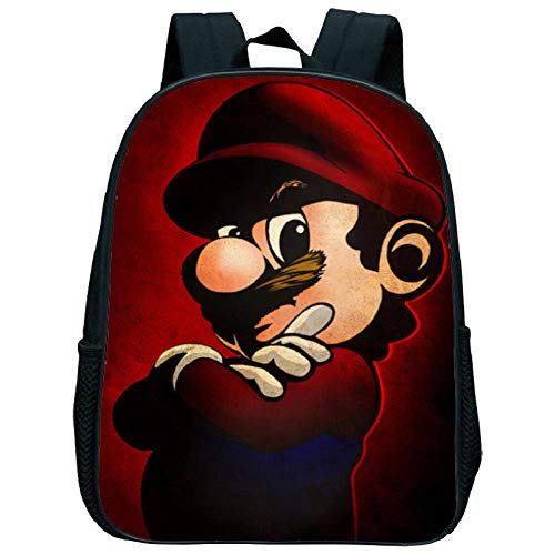 12 Inch Super Mario Smash Bros Backpacks Kindergarten Backpack Toddler Kids School Bag Preschool Children Boys Girls Baby Bag 15 12 inches