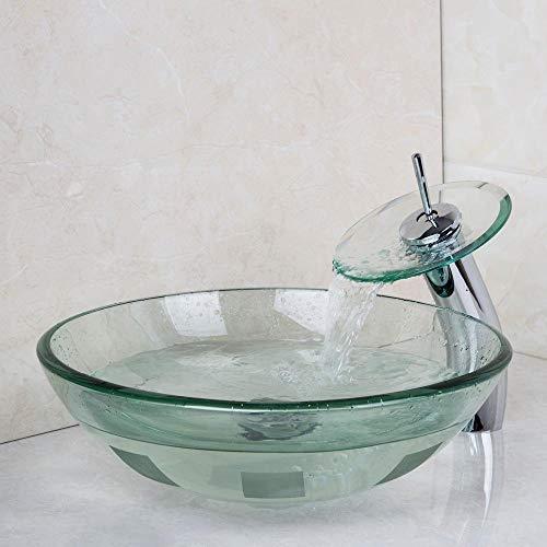 DWSS Lavabo Lavabo Lavabo Lavabo de vidrio templado Juego de grifería para lavabo Mezcladores y grifos Grifo para baño Vaso para lavabo Vanidad