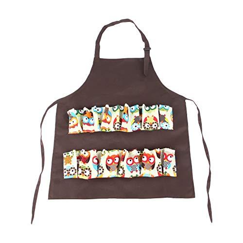 TinaDeer Taschen Schürze zum Sammeln von Eiern, Schürze, Bauernhof, Eierschürze, Eierträger, Geschenk für Liebhaber von Hühnern, Enten, Gänsen, Küche, Arbeitskleidung (Braun)