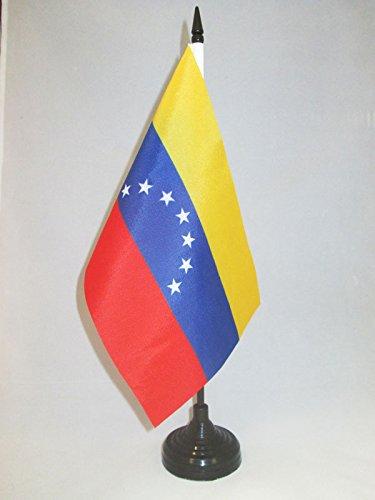 AZ FLAG Bandera de Mesa du Venezuela Antigua 21x14cm - BANDERINA de DESPACHO VENEZUELANA Antigua 14 x 21 cm