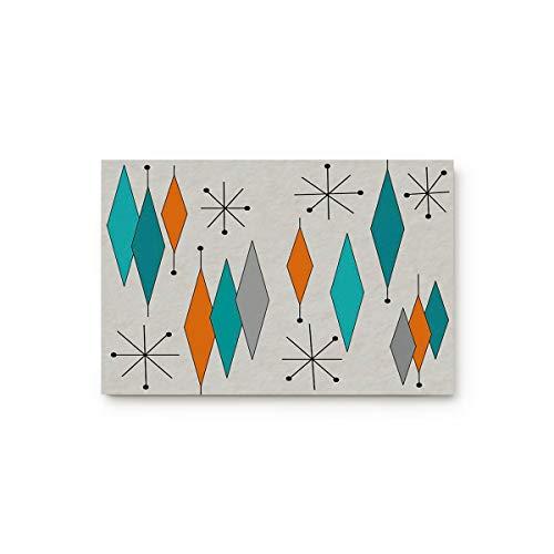 Europen Retro Prismatic Modern Mid Century 18' x 30' Decorative Doormats Personalized Entryway Floor Rugs Durable Non-Slip Absorbent Thin Low Pile for Indoor Home/Bathroom/Kitchen